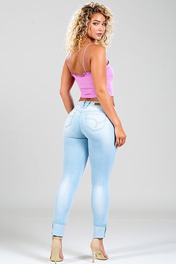 Junior WannaBettaButt Mid-Rise Mega Cuffed Skinny Jean
