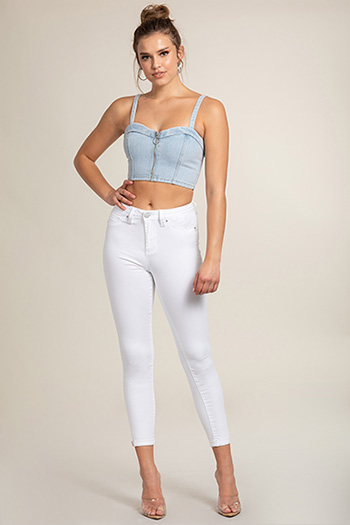Junior Hide Your Muffin Top High-Waist Ankle Jeans
