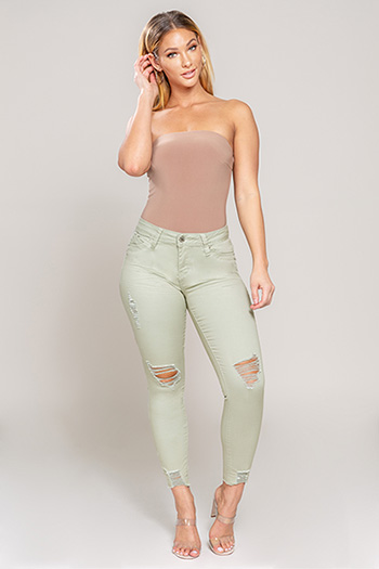 Junior WannaBettaButt Distressed Ankle Jean