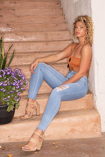 Junior WannaBettaButt High-Rise Denim Skinny Jeans