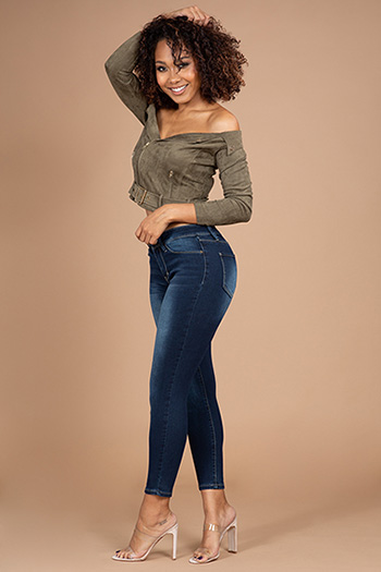 Junior Mid-Rise Soft Stretch Ankle Jean