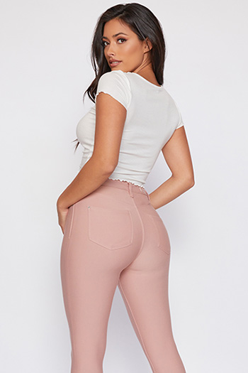 Junior Hide Your Muffin Top Ponte High-Rise Skinny Pant