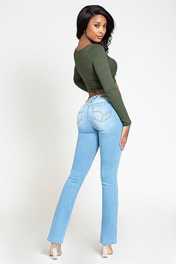 Junior WannaBettaButt Mid-Rise Skinny Bootcut Jeans