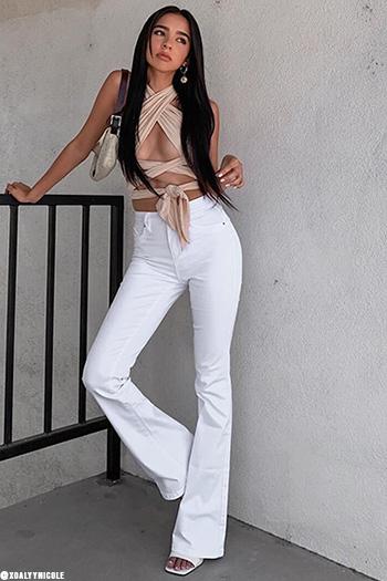Junior Luxe Lift High-Rise Denim Flare Jean