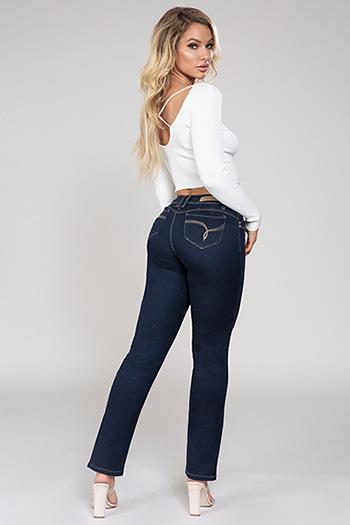 Junior WannaBettaButt Mid-Rise Straight Leg Jeans