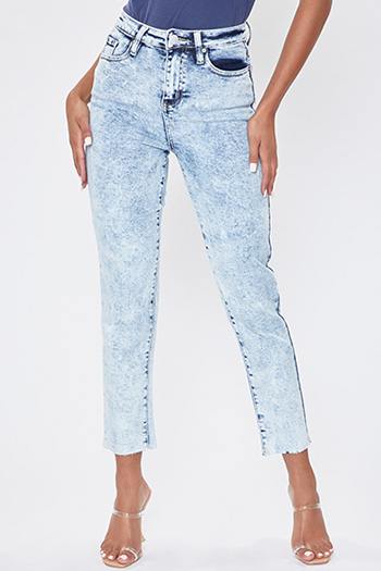 Junior Dream High-Rise Denim Ankle Jean with Raw Hem
