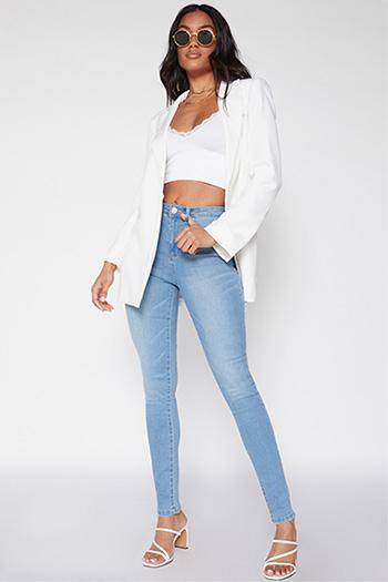Junior High-Rise Denim Skinny Jean