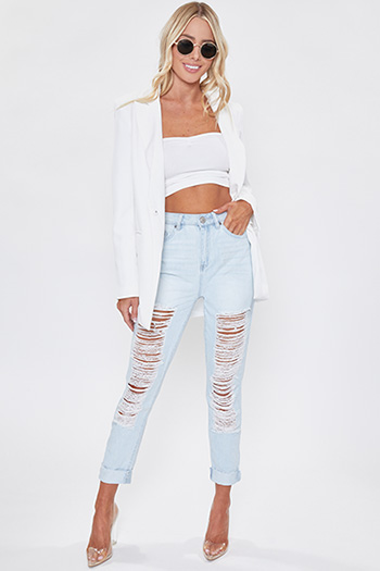 Junior Hybrid Dream High-Rise Distressed Denim Ankle Jeans