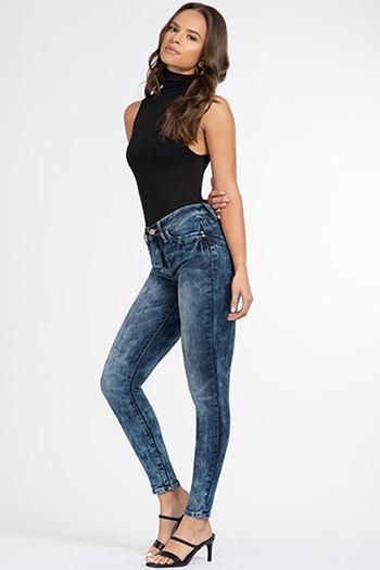 Junior Luxe Lift Jade Distressed Denim Skinny Jean