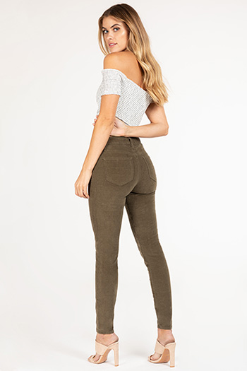 Junior High-Rise Corduroy Skinny Pant