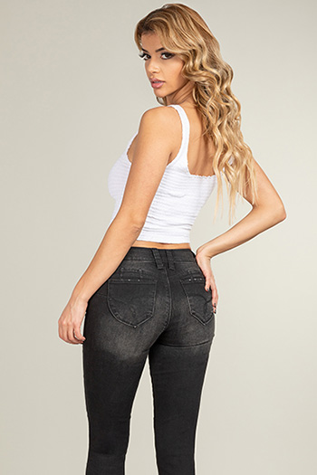 Junior Eco-Friendly WannaBettaButt Denim Skinny Jean Made With Recycled Fibers