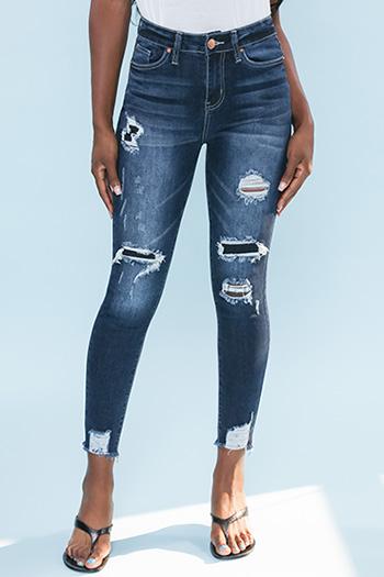 Junior High-Rise Rip And Repair Skinny Jean