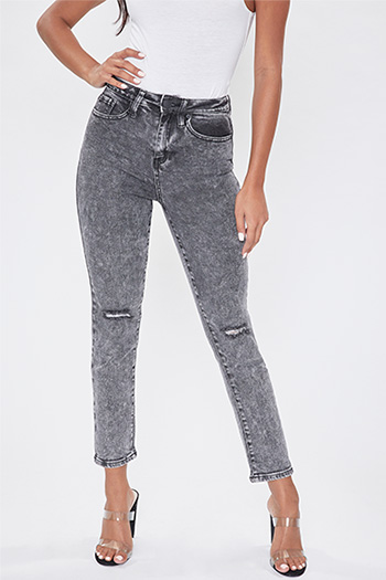 Junior Vintage Dream High-Rise Distressed Ankle Jean
