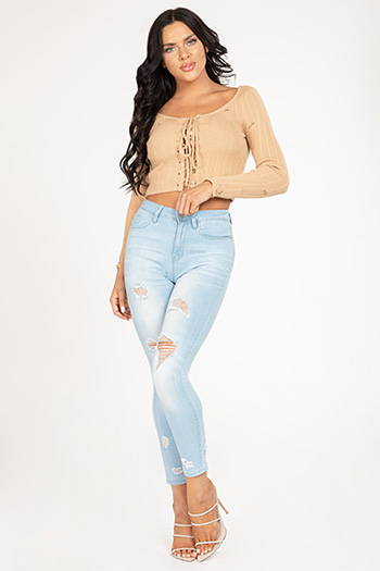 Junior Hide Your Muffin Top High-Rise Distressed Denim Ankle Jean