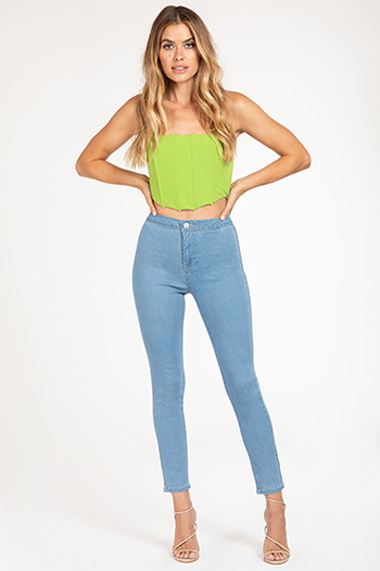 Junior High-Rise Tube Skinny Ankle Jean