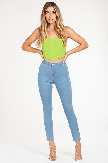 Junior High-Rise Tube Skinny Ankle Jean