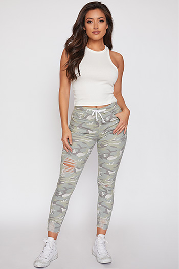 Junior High-Rise Distressed Ankle Jogger