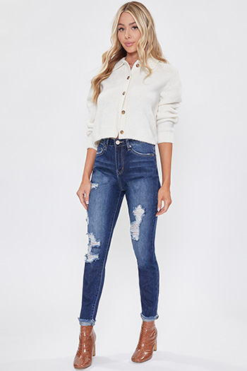 Junior Hybrid Dream High-Rise Distressed Denim Ankle Jean with Fray Cuff