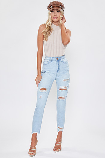 Junior Hybrid Dream High-Rise Denim Ankle Jean with Fray Hem