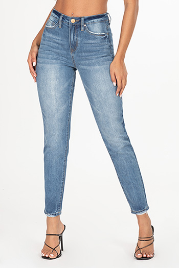 Junior Hybrid Dream High-Rise Mom Fit Ankle Jean
