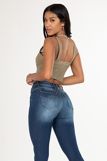 Junior WannaBettaButt Distressed Denim Skinny Jean