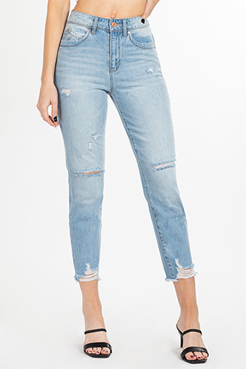 Junior WannaBettaButt Hybrid Dream High-Rise Destructed Ankle Jean