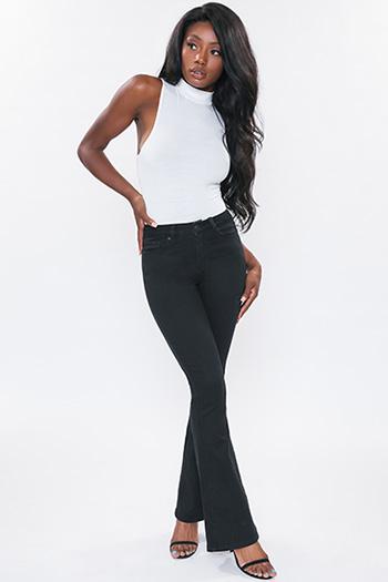 Junior High-Rise Basic Flare Jean