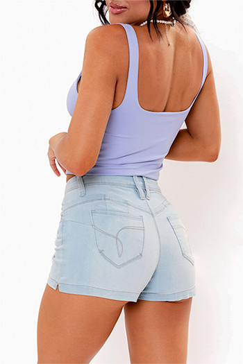 Junior WannaBettaButt Mid-Rise Shorts With Side Slit