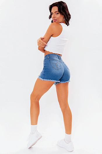 Junior WannaBettaButt Mid-Rise City Shorts