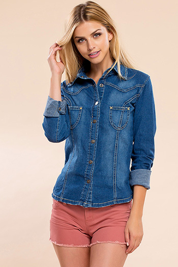 Junior Denim Long Sleeve Shirt