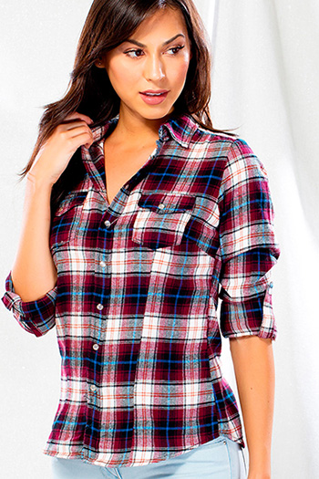 Junior Plaid Flannel Top