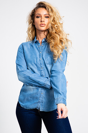 Junior Oversized Boyfriend Button-Up Shirt