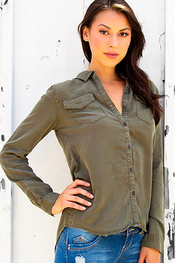 Junior Luxe Tencel Boyfriend Shirt