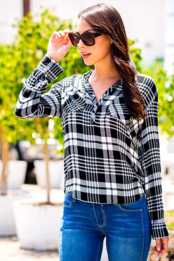 Junior Love Plaid High-Lo Pull Over Snap Shirt