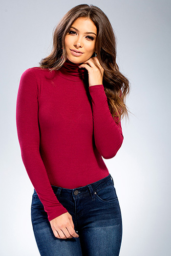 Junior Long Sleeve Turtleneck Bodysuit