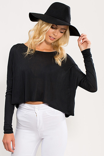 Junior Drop Shoulder Crop Top