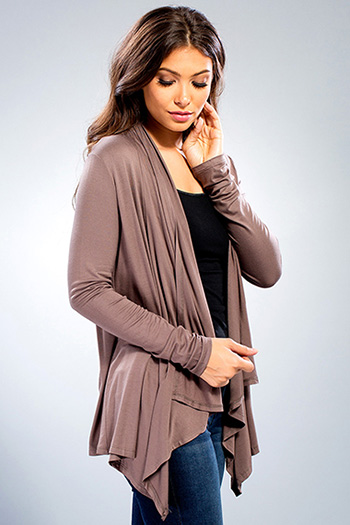 Junior Long Sleeve Luxe Waterfall Cardigan