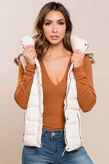 Junior Parka Vest with Fur Hood