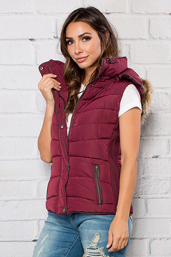 Junior Parka Vest with Fur Hood