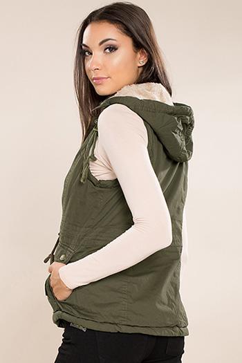 Junior Cotton Vest with Fur Lining