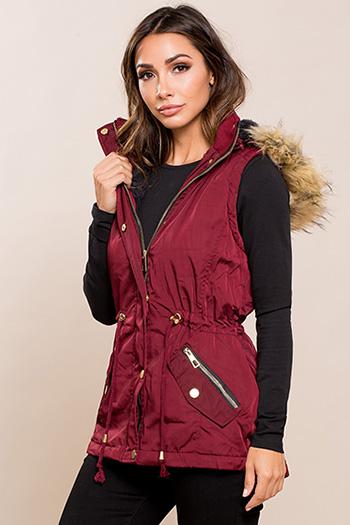 Junior Vest with Detachable Fur Hood