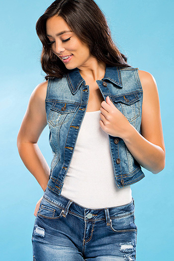 Junior Vintage Denim Vest