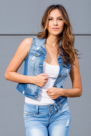Junior Denim Vest