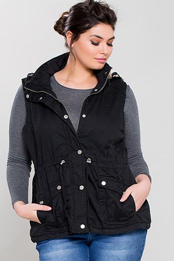 Junior Plus Cotton Vest with Faux Fur Lining