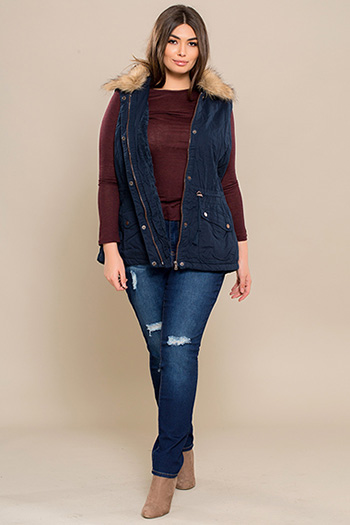 67d5477ac07 Junior Plus Size Denim Jackets   Junior Plus Size Denim Vests - YMI ...