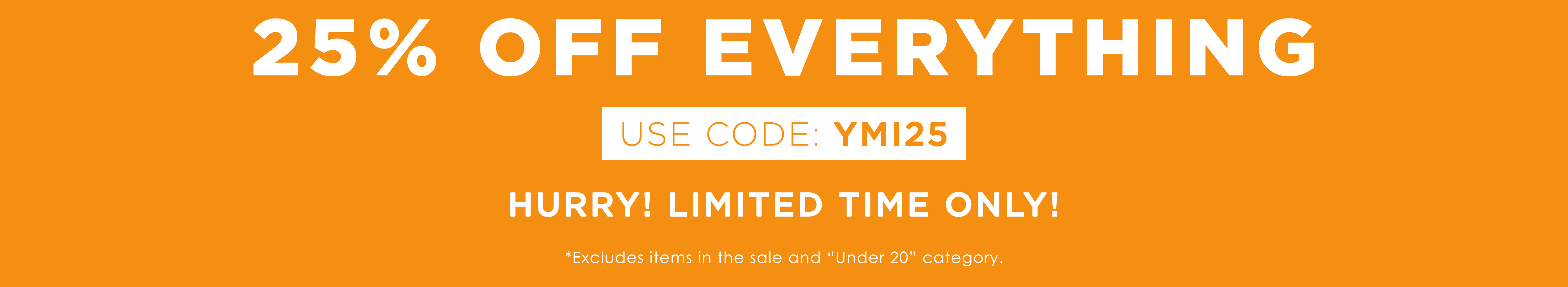 Free YMI bag when you spend 75 dollars or more. while supplies last. shop now