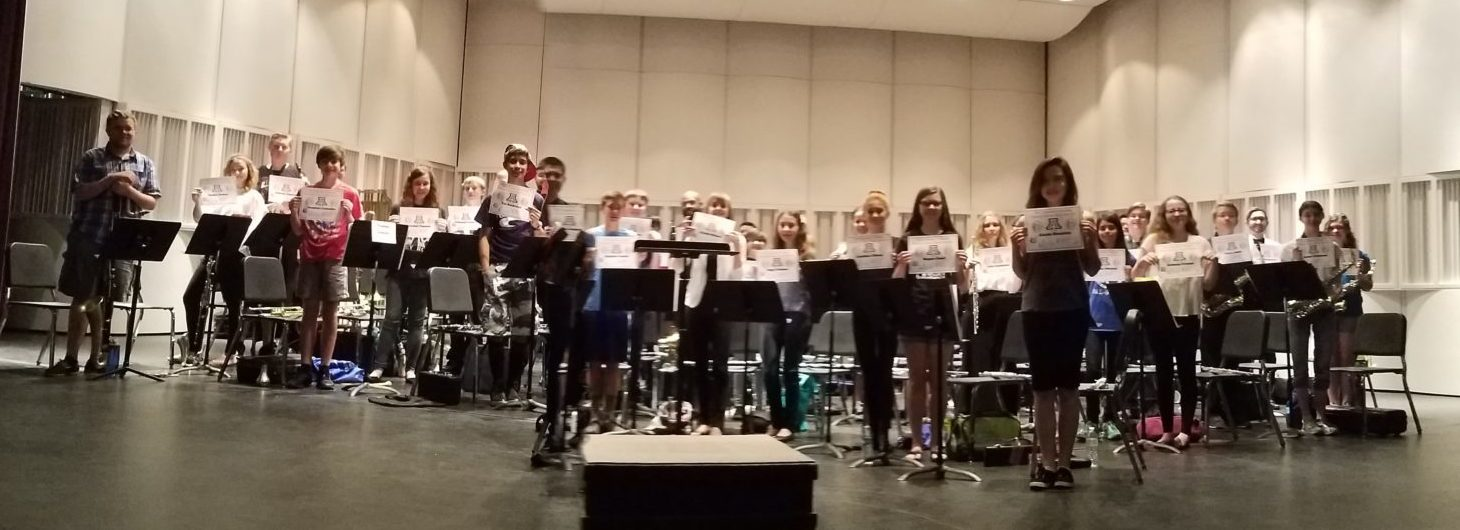 Outreach Band students