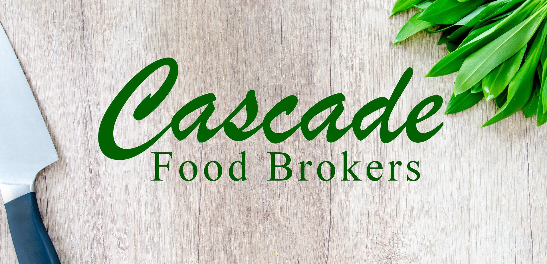 Cutting Board with cascadefoodbrokers logo