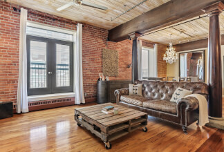 Stunning Live/Work Loft at The Hudson with Two Parking Stalls