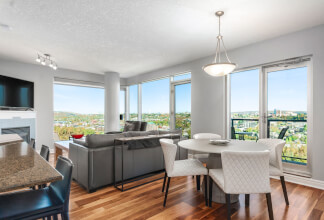 Two Bedroom Corner Unit In Five West With Sweeping River and City Views